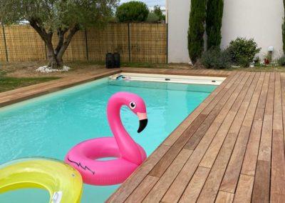 Habillage d'une piscine