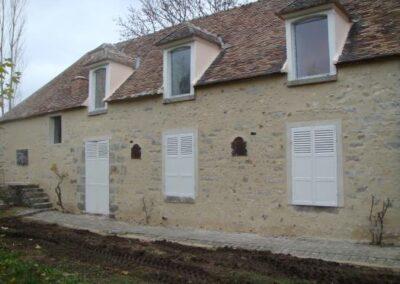 Rénovation d'une façade en pierre